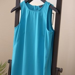 Aqua shift dress